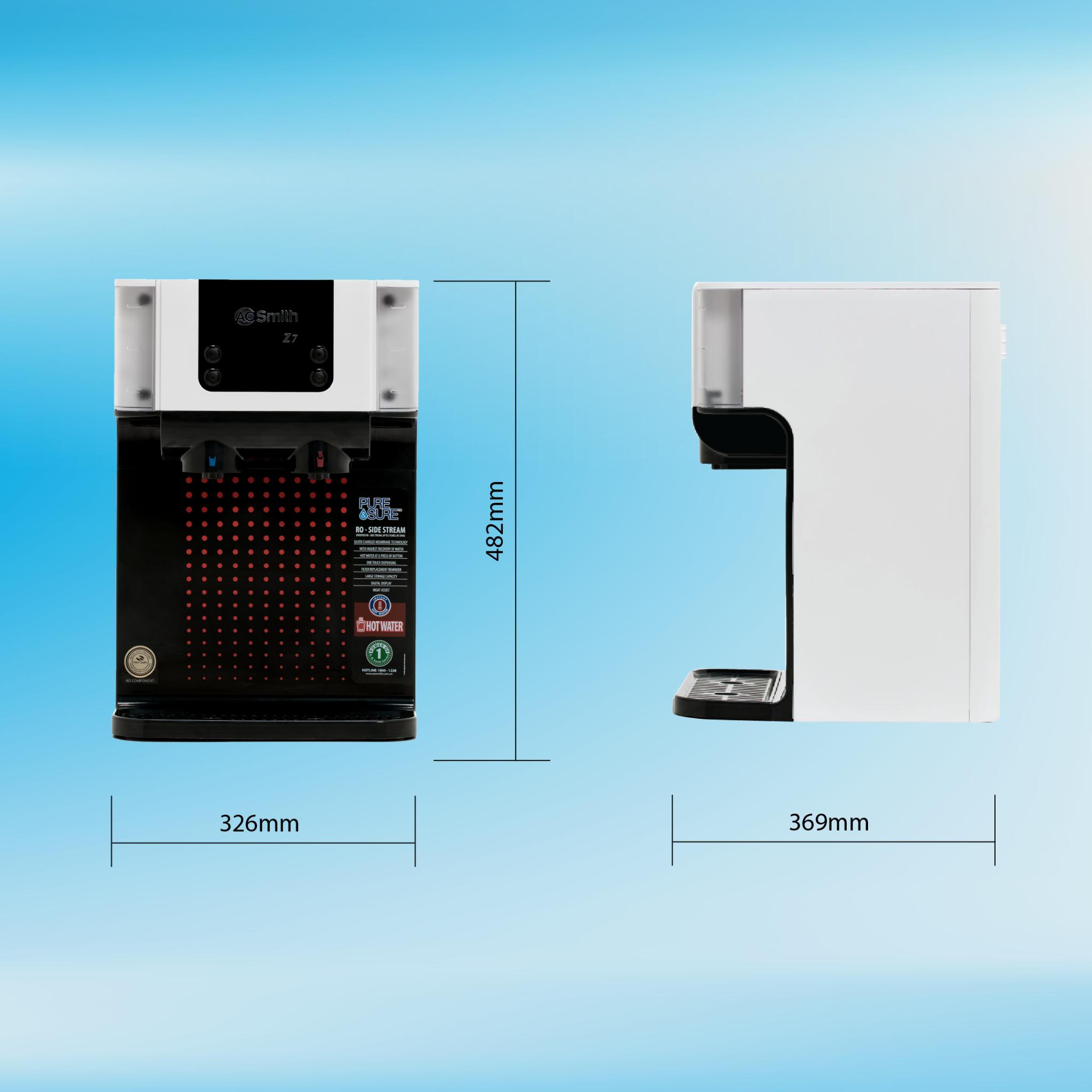 Máy lọc nước thường-nóng A.O.Smith RO-SIDE STREAM Z7 16
