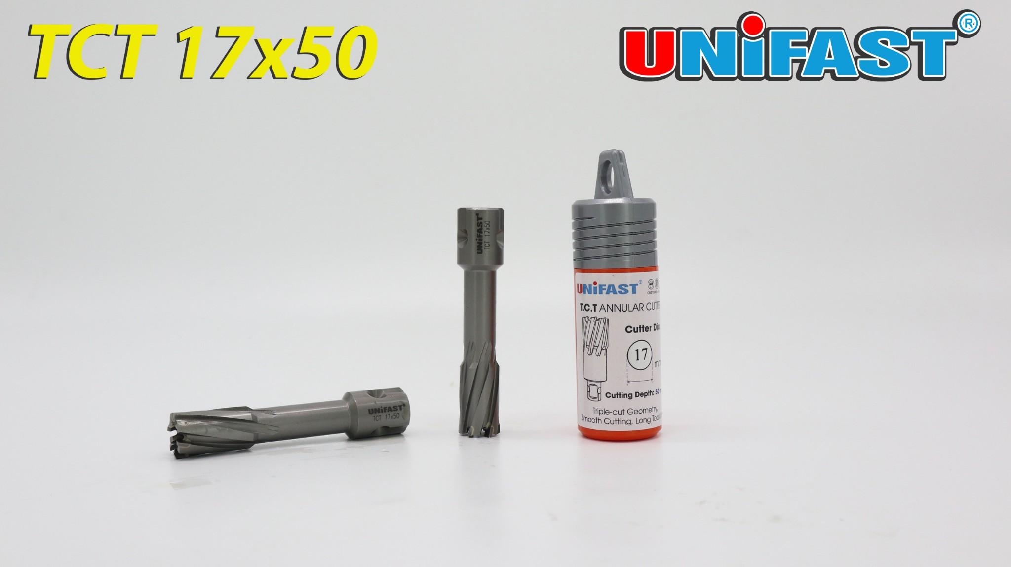 Mũi khoan hợp kim cứng hiệu Unifast Model TCT 17x50