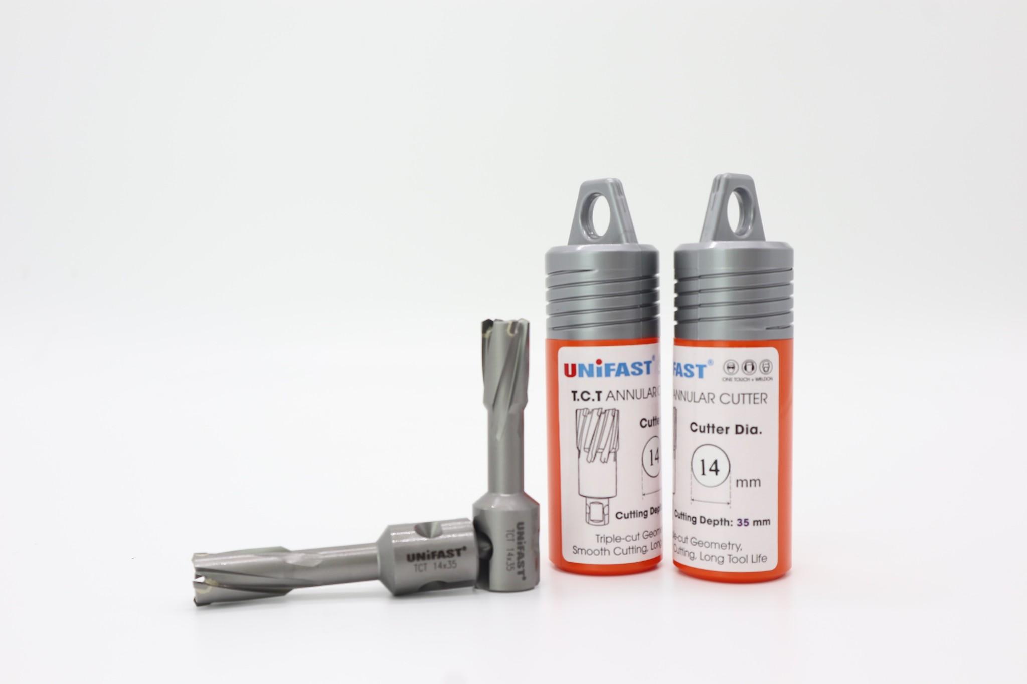Mũi khoan từ hợp kim TCT 14x35 thương hiệu Unifast