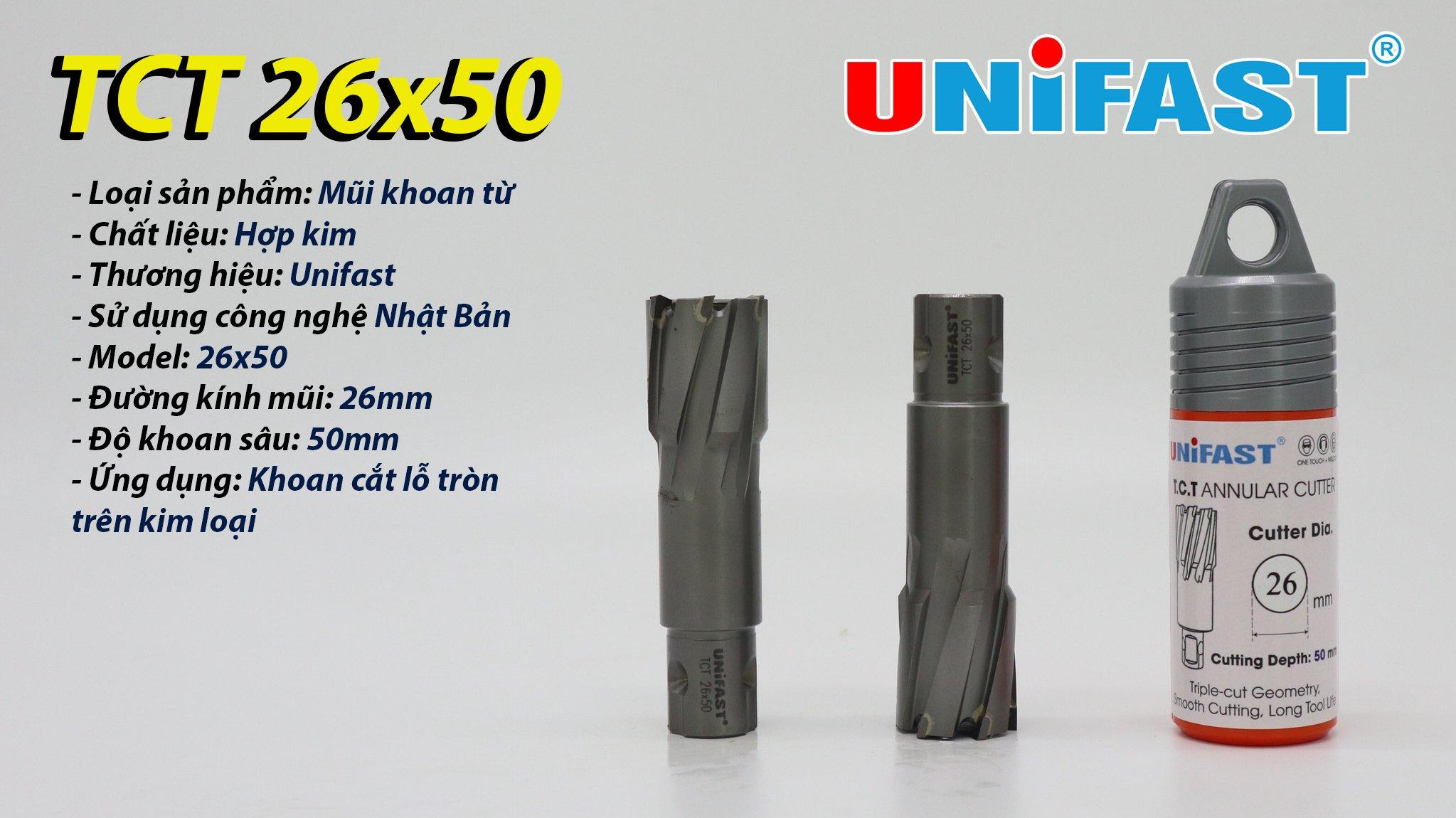 TCT Unifast 26x50