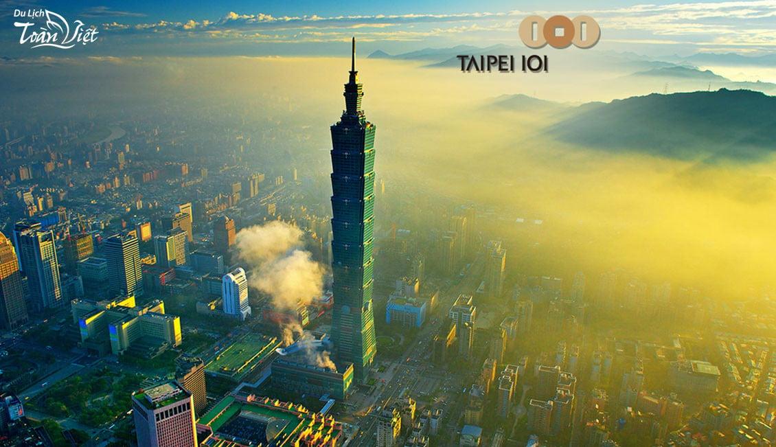 Du lịch Đài Loan tham quan tháp Taipei 101