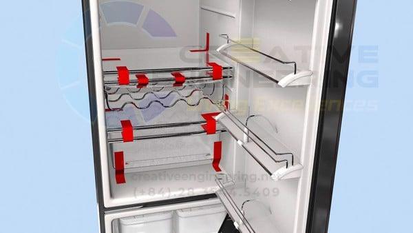 Cố định an toàn để vận chuyển tủ lạnh bằng băng keo tesa - Creative Engineering