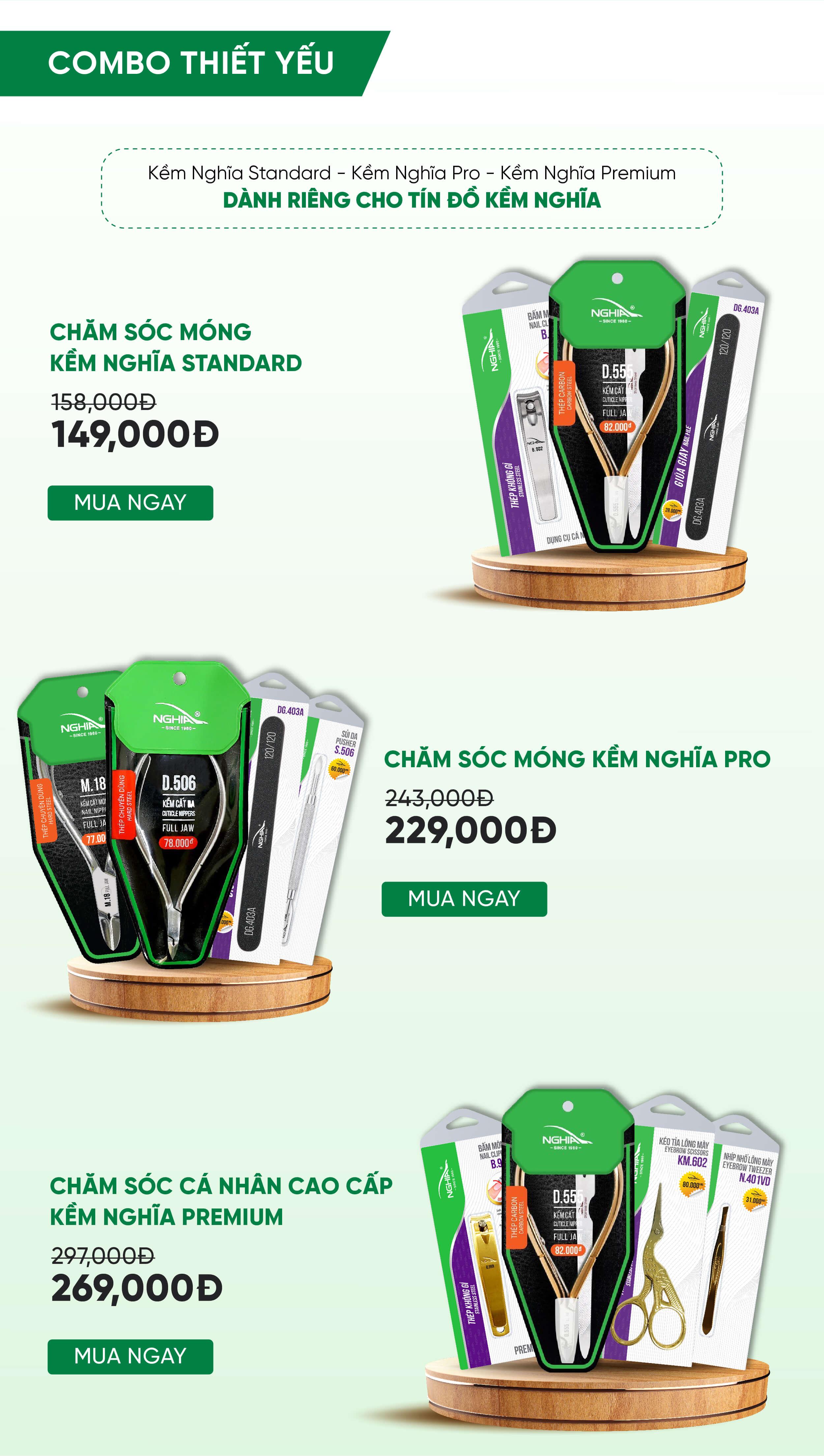 Combo Limited Edition giá chỉ từ 149K | Kềm Nghĩa Việt Nam