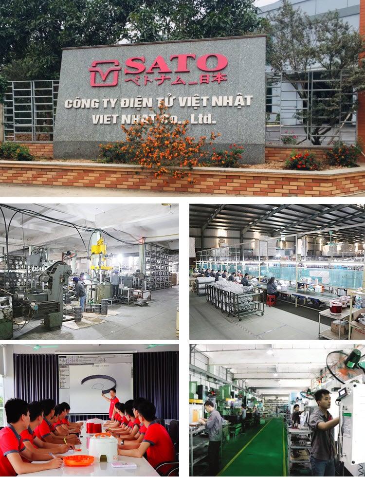 nhà máy sản xuất sato