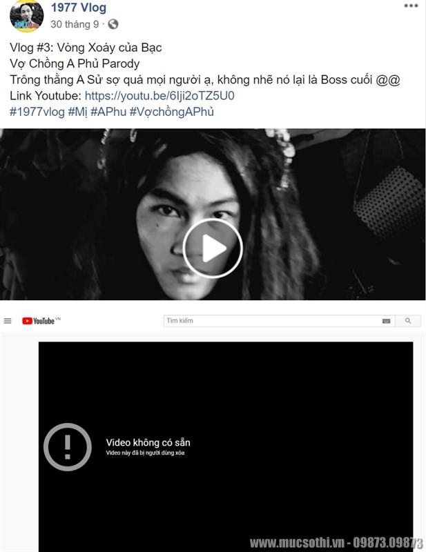 Mục sở thị kênh 1977 Vlog mất toàn bộ video! Lỗi YouTube hay bị report? - 09873.09873