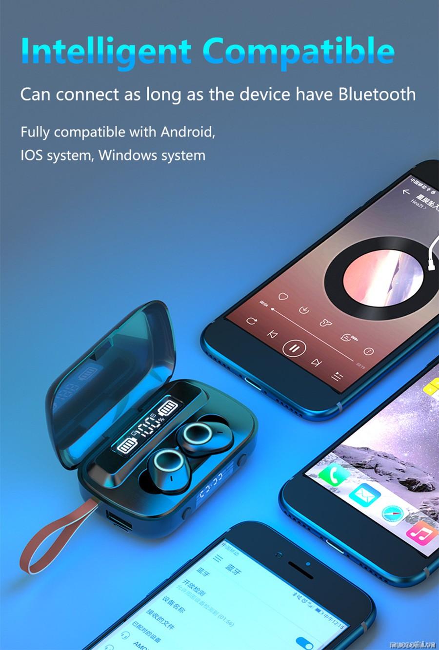 Mục sở thị và giới thiệu tai nghe bluetooth mini TWS F9m chính hãng giá tốt - 09873.09873