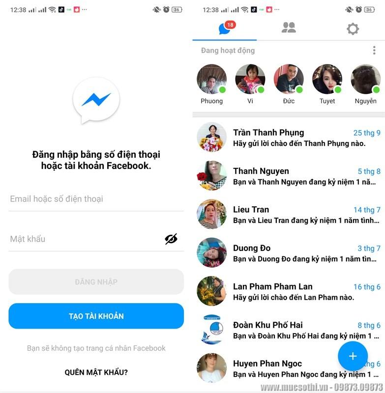 Cách nhắn tin cùng lúc 2 tài khoản Messenger cùng lúc trên smartphone - 09873.09873