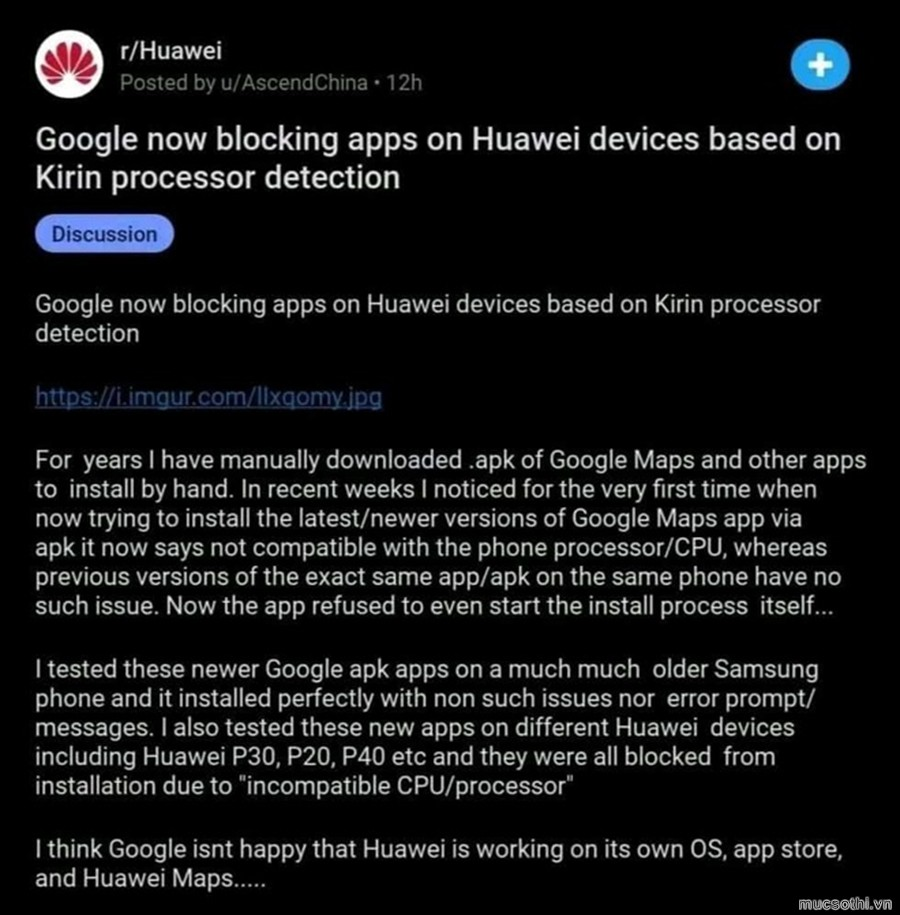 Google chính thức tung cú cước cuối cùng hạ gục trò bẩn của Huawei - 09873.09873