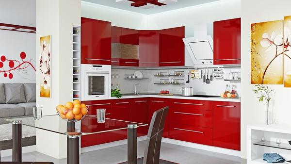 Thiết kế nội thất bếp với các vật liệu khác nhau