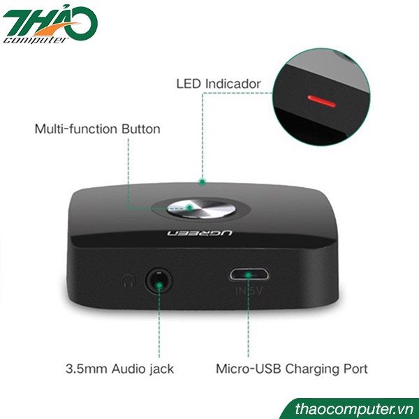 bo thu am thanh khong day bluetooth 4.1 ra rca ugreen 30445
