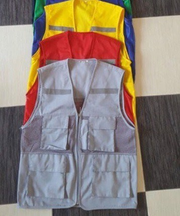 áo gile phản quang có túi