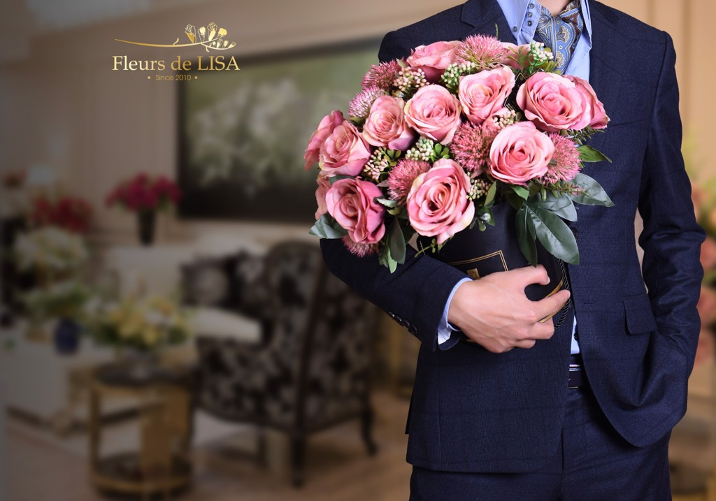 hộp hoa lụa ngày của mẹ