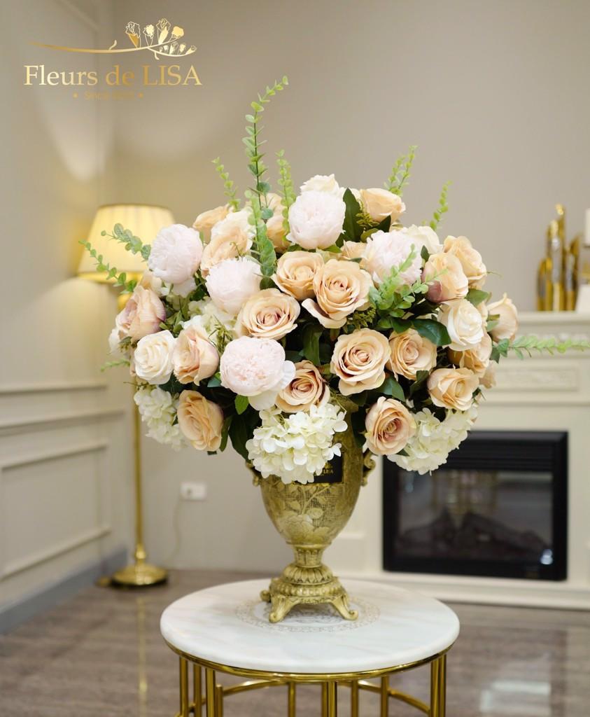 hoa lụa nội thất