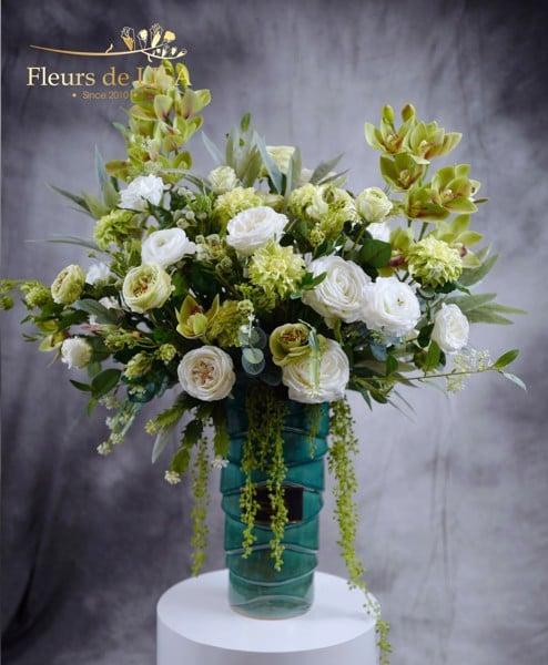 hoa lụa trang trí nội thất