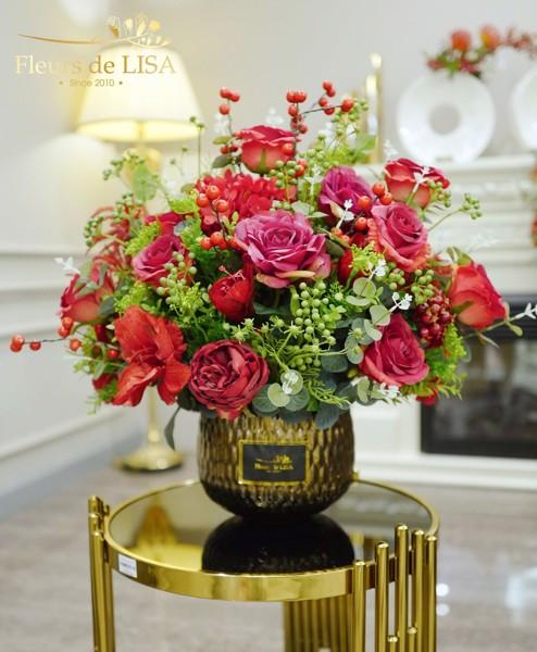 hoa lụa nghệ thuật giá bao nhiêu