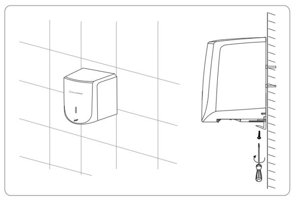 cách lắp đặt máy sấy tay