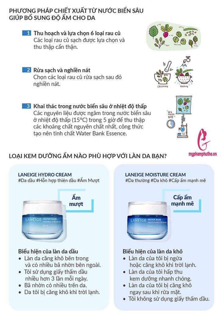 Kem dưỡng ẩm Laneige Water Bank Hydro Cream EX cho da dầu mụn