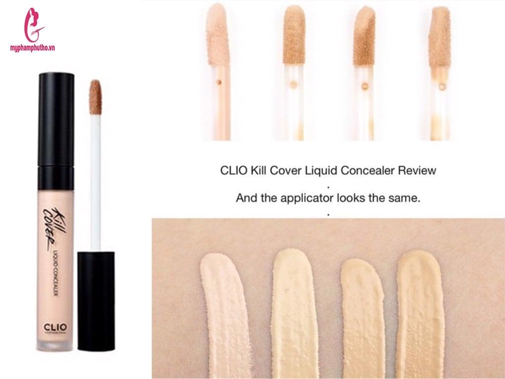 bảng màu Kem Che Khuyết Điểm Dạng Lỏng Clio Kill Cover Liquid Concealer