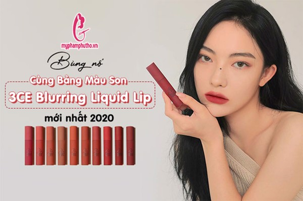 son 3ce blurring liquid lip 2020