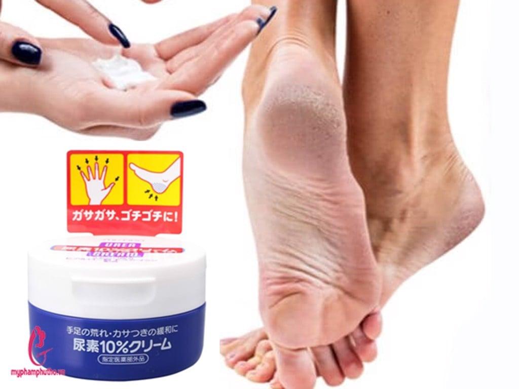 cách dùng Kem trị nứt nẻ gót chân tay Shiseido :