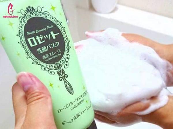 Hướng dẫn sử dụngSữa rửa mặt Rosette Cleansing Paste Nhật Bản