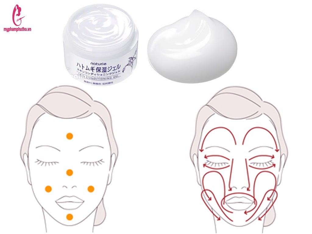Cách sử dụng sản phẩm kem dưỡng Naturie skin conditioning gel
