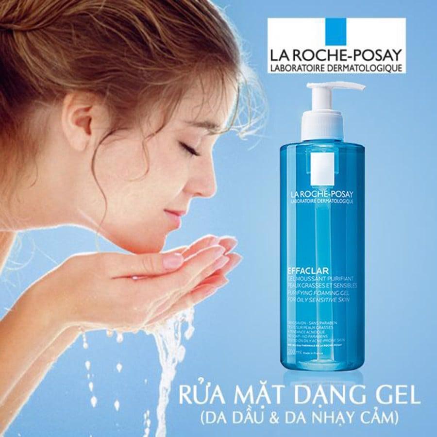 cách sử dụng của sữa rửa mặt La Roche Posay