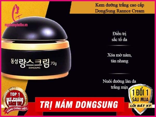 công dụng kem trị nám DongSung Rannce chính hãng hàn quốc