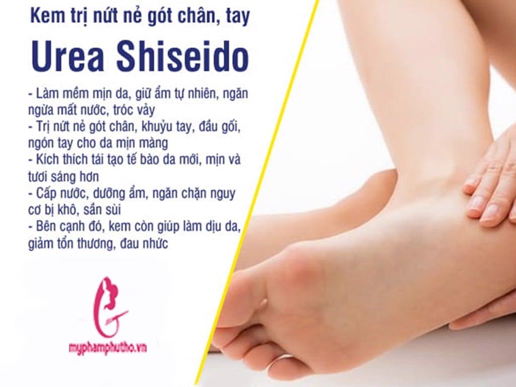 Công dụng của Kem trị nứt nẻ gót chân tay Shiseido Urea Cream Nhật Bản có tốt không
