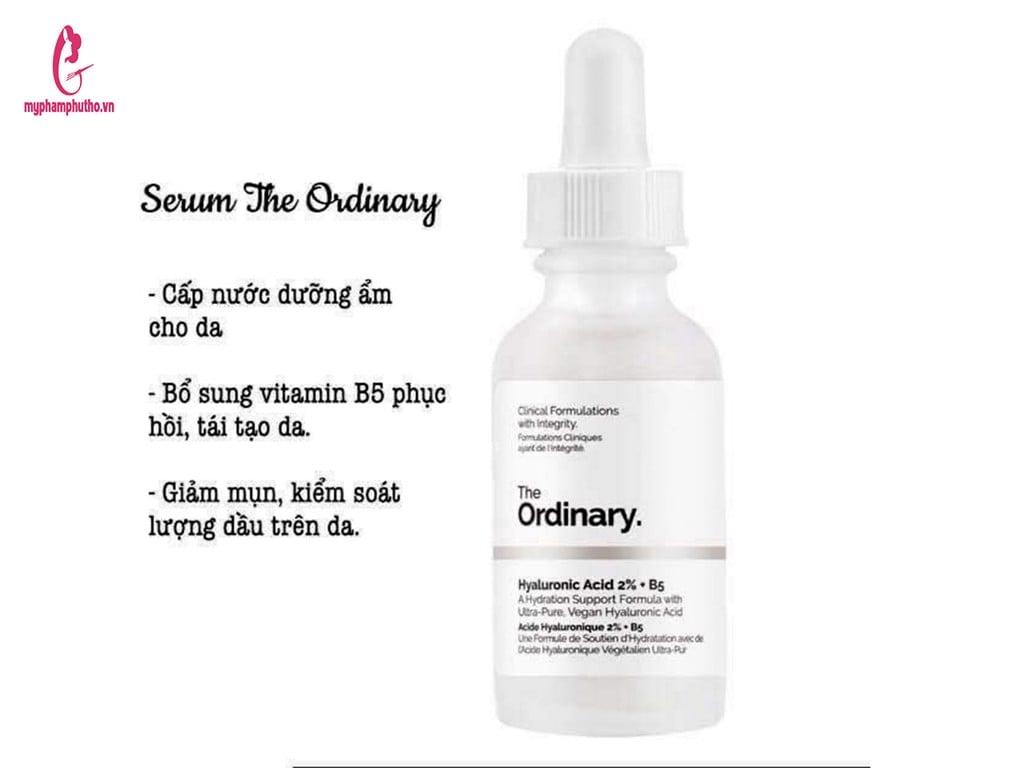 Thành phần củaTinh Chất Serum The Ordinary Hyaluronic Acid 2% + B5 30ml