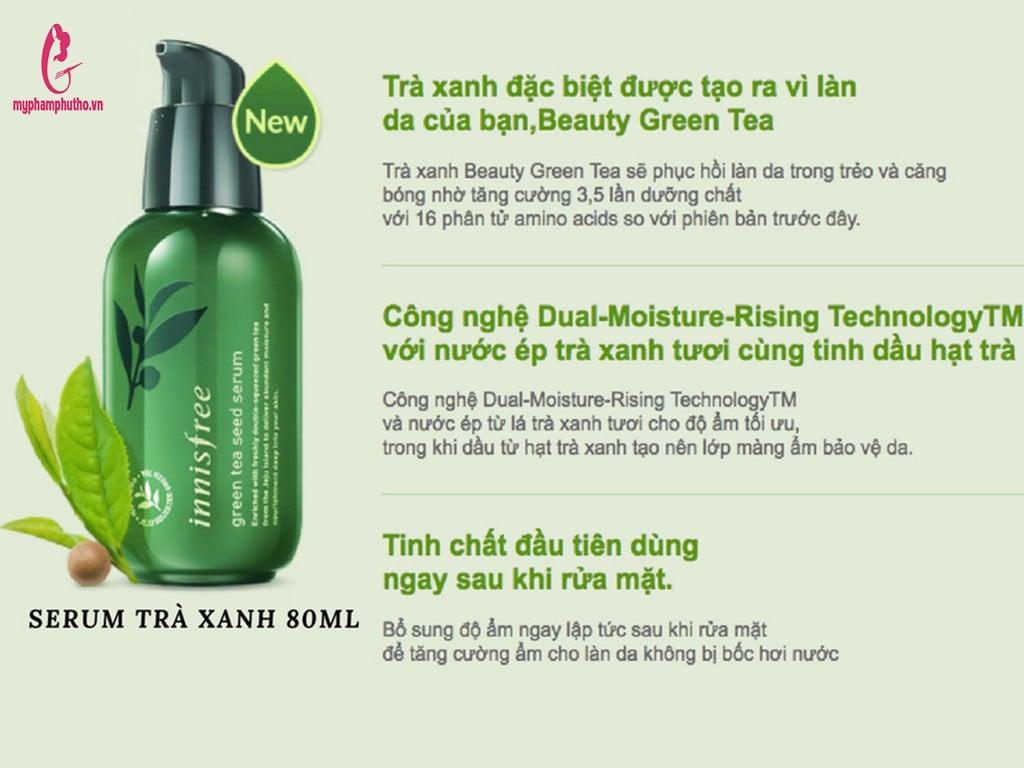 Công dụng Tinh chất Trà xanh Innisfree The Green Tea Seed Serum có tốt không