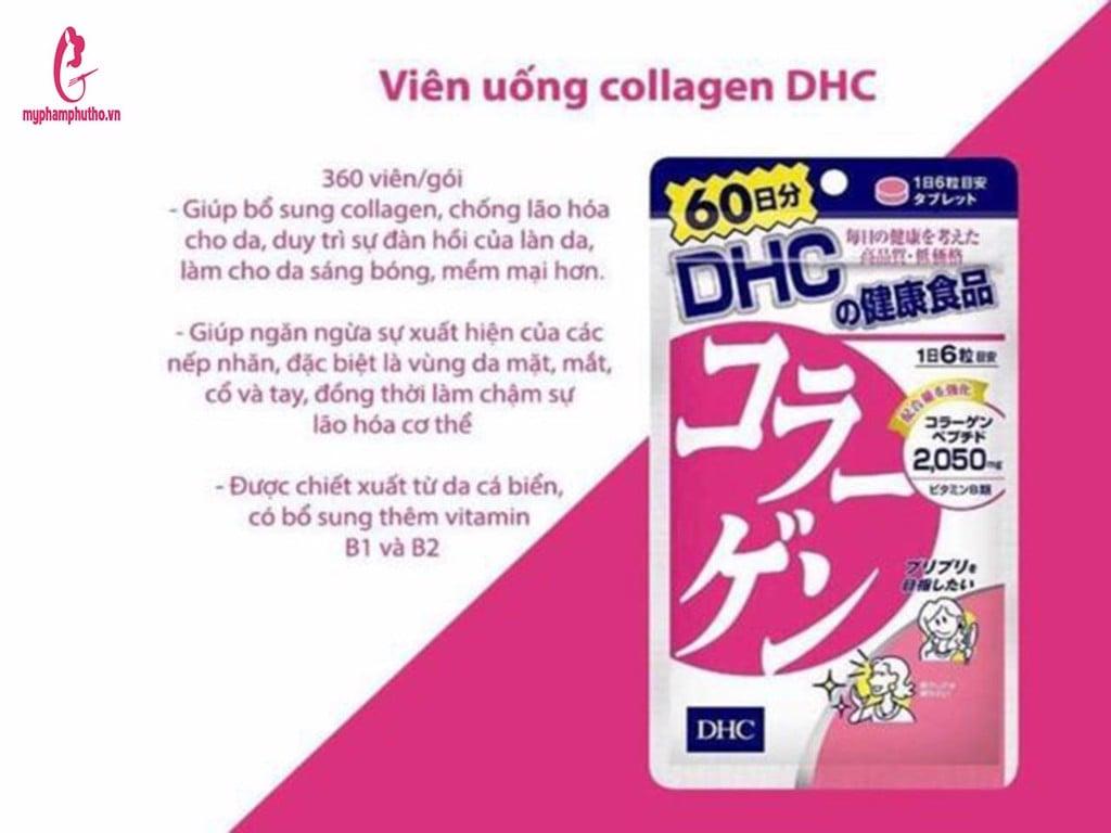 công dụng Viên Uống Collagen DHC của Nhật
