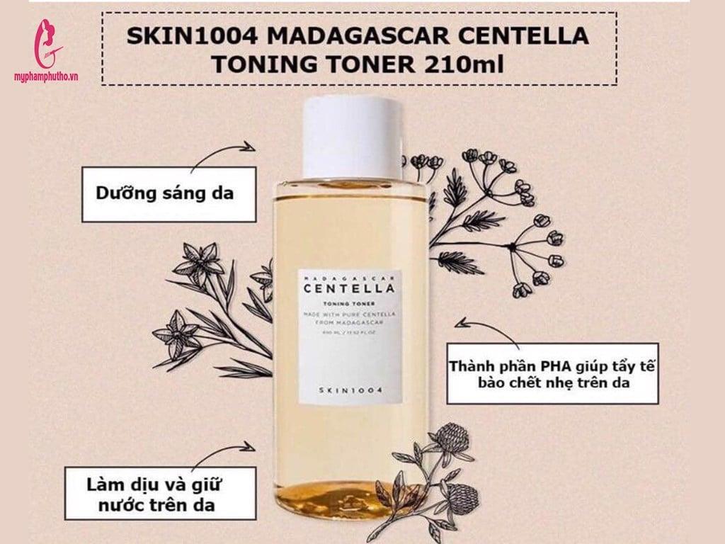 ông dụngNước hoa hồng Rau Má Skin 1004Centella Toner có tốt không ?