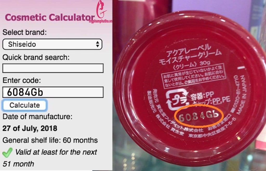 hạn sử dụngKem Dưỡng Da Shiseido