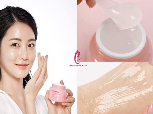 hướng dẫn sử dụng Kem dưỡng Dạng Gel Innisfree Jeju Cherry Blossom Jelly Cream
