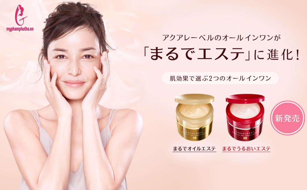 hướng dẫn sử dụng kem shiseido aqualabel 5 trong 1