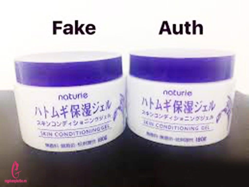 Kem Naturie thật- giả (auth- fake)phân biệt như thế nào