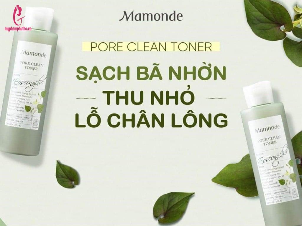 Nước Hoa Hồng Mamonde Toner Diếp Cá Màu Xanh Cho Da Dầu Mụn