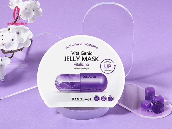 Cách dùng Mặt Nạ Giấy BANOBAGI Vita Genic Jelly VITALIZING - Màu Tím Mẫu Mới 2020
