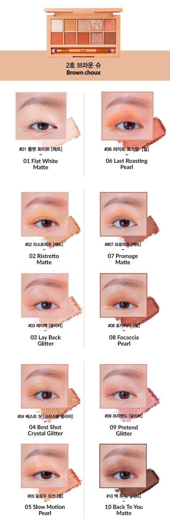 • Màu 02-Bảng phấn mắt Clio Pro Eye Pallete