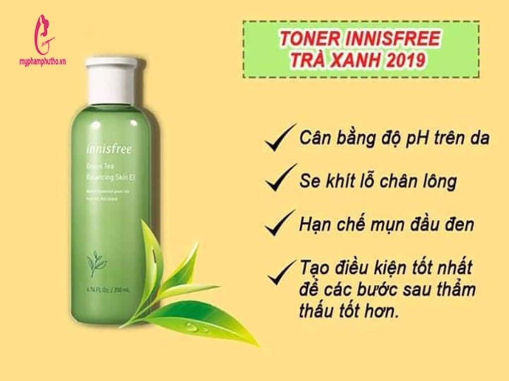 Nước Hoa Hồng Trà Xanh Innisfree Green Tea Balancing Skin EX 200ml