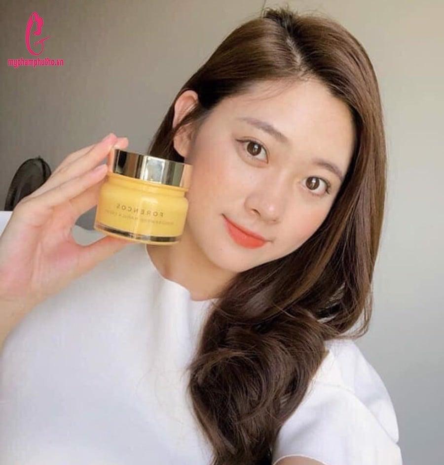 review Kem Dưỡng Forencos Wonderwerk Marula Cream ( màu vàng)