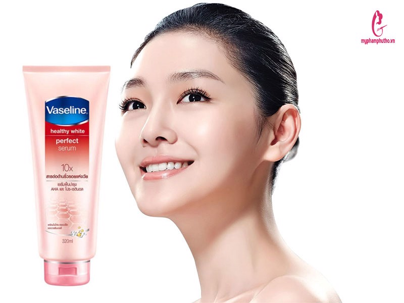 review Kem dưỡng thể Vaseline 10X Healthy White Perfect Serum