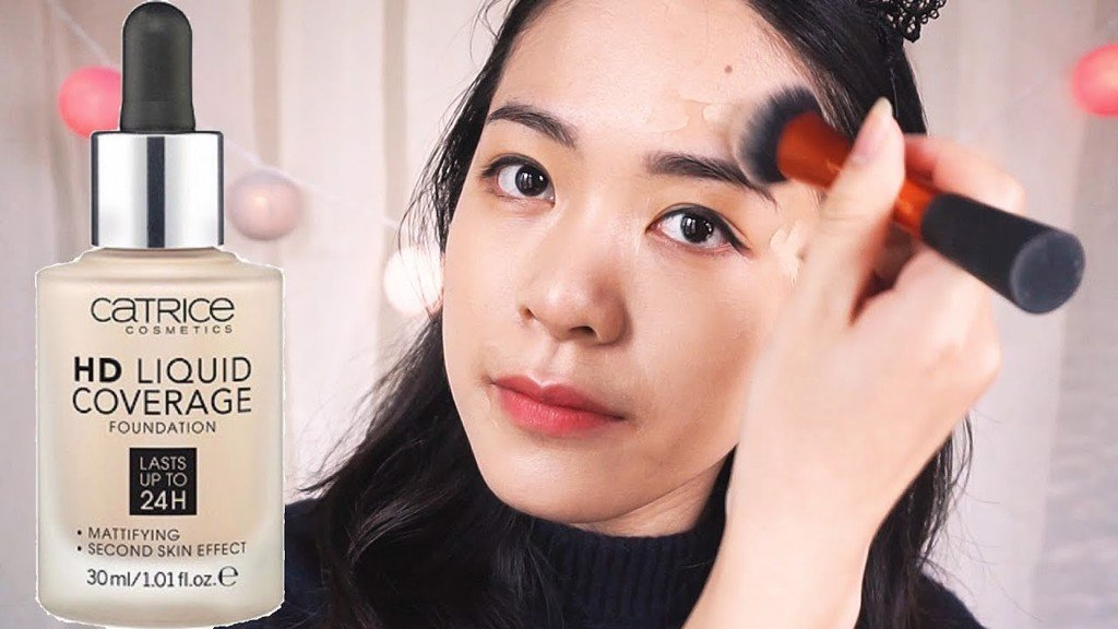 review Kem nền Catrice HD Liquid Coverage Foundation 24h