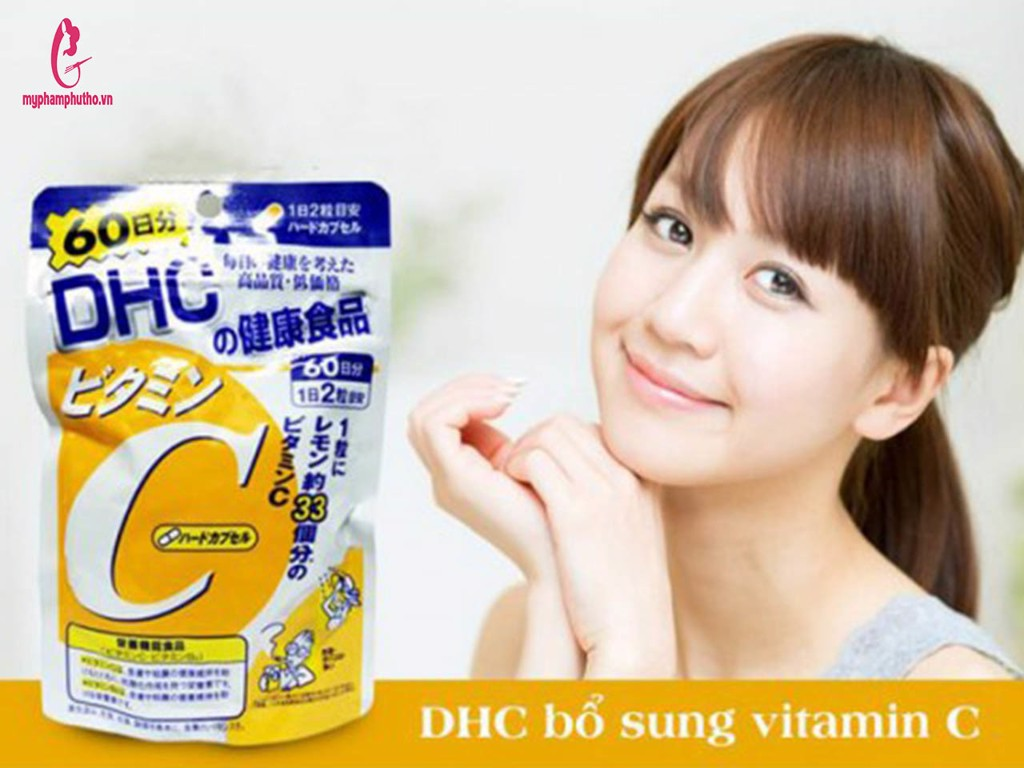 review Viên Uống Trắng Da Vitamin C DHC Nhật Bản