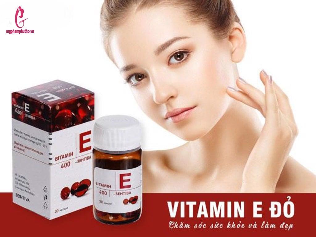 Viên uống Vitamin E đỏ Zentiva 400mg - 30 viên