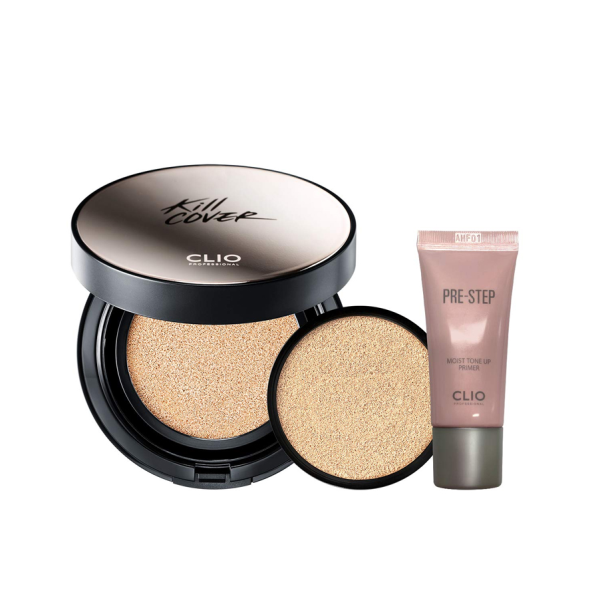 Set Phấn Nước Clio Kill Cover Founwear Cushion XP Primer Set
