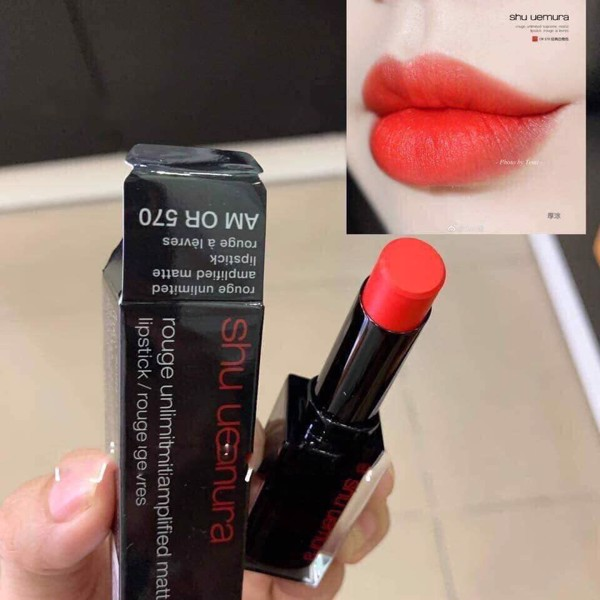 Son Shu Uemura Rouge Unlimited Amplified AM OR 570