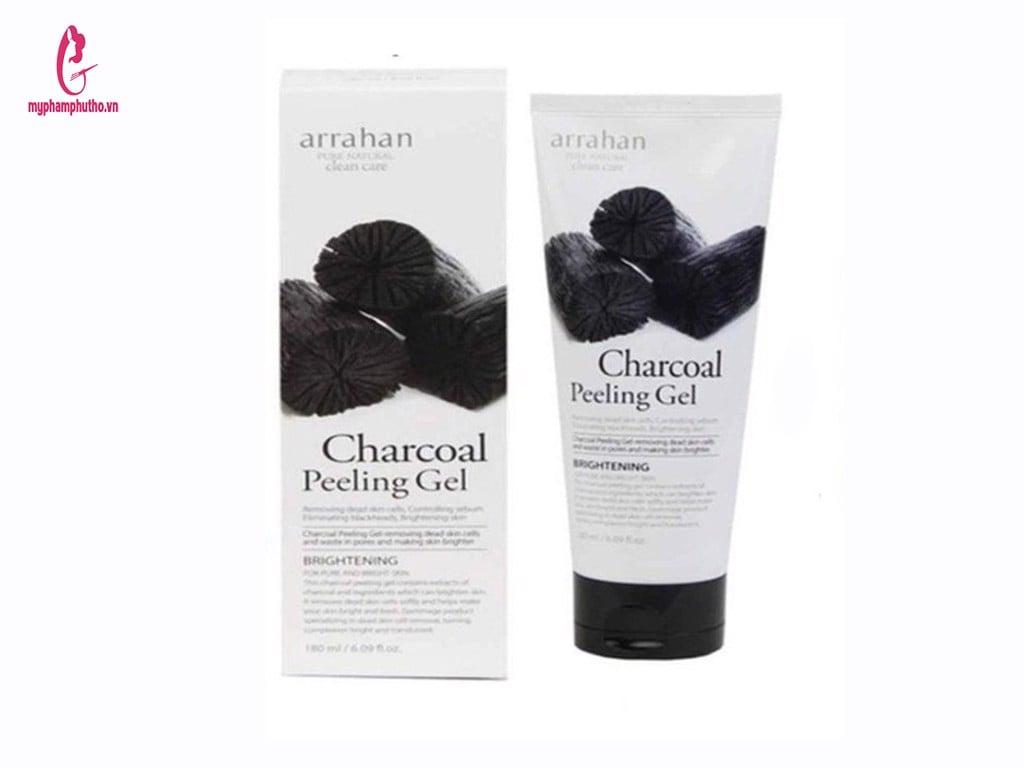 Tẩy da chết Arrahan charcoal Peeling Gel Than hoạt tính