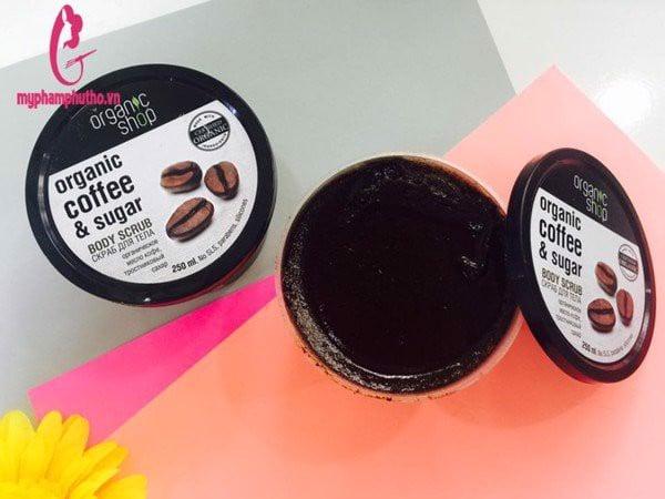 thành phần Tẩy da chết toàn thân Organic Coffee & Sugar Body Scrub
